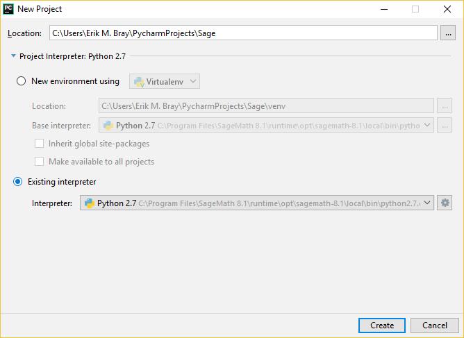Make PyCharm recognise the Sage python interpreter - ASKSAGE